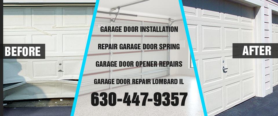 Garage Door Repair Lombard IL banner