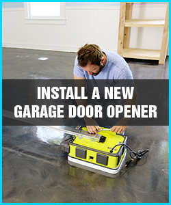 install a new garage door opener lombard il